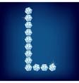 diamond alphabet letter l vector
