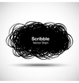 Hand drawn scribble shape vector