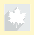 Maple leaf silhouette on greeting card vector