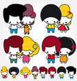 Teen couple lovers vector
