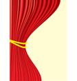 Theater red curtains vector