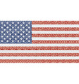 Mosaic american flag vector