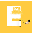 Paint roller alphabet e vector