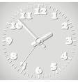 Paper origami clock vector