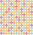 Smile icon seamless pattern vector