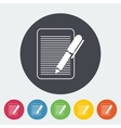 Document single flat icon vector