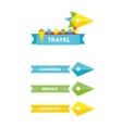 Flat bird travel company logo with identity vector