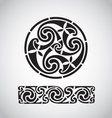 Circular celtic design vector