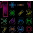 Set of numbers with radiant pattern vector