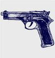 Gun black vector