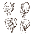 Woman hairstyle vector