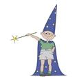 Boy with magic wand vector