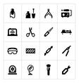 Set icons of manicure vector