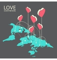 Isometric for valentines day vector