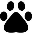 Paw footprint vector
