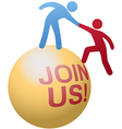 People help join social website vector