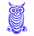 Floral decorative ornament owl vector