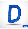 Alphabet letter d watercolor alphabet vector