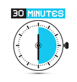 Thirty minutes stop watch - clock vector