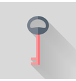 Flat key icon over grey vector