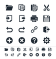 Application toolbar icons vector