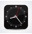 Black clock icon vector