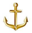 Golden anchor vector