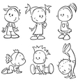 Children sketch vector