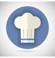 Chief cook symbol toque cuisine food icon on vector