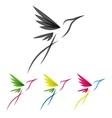 Colored stylized colibri vector
