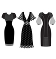 Dresses woman clothes isolated on white vector