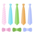 Set of ties and bow ties vector