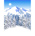 Mountain ski resort vector