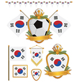 South korea flags vector