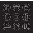 Utensils icons set 9 vector