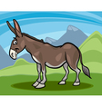 Donkey farm animal cartoon vector