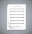 Empty paper three sheets vector