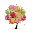 Frame made from fruits sketch for your design vector