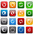 Square color arrow icons vector