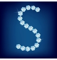 diamond alphabet lette s vector