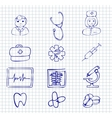 Medical and hospital symbols and icons vector