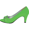 Heeled shoe vector
