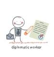 Diplomatic worker vector