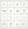 Modern social media icons vector