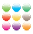 Set of colored glass balls vector