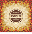Geometric vintage background vector