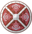 Ornate celtic shield vector