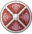 Ornate celtic shield vector