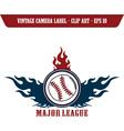 Baseball design elements vector