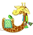 Cute giraffe got flue vector